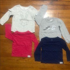 Bundle of toddler girl shirts